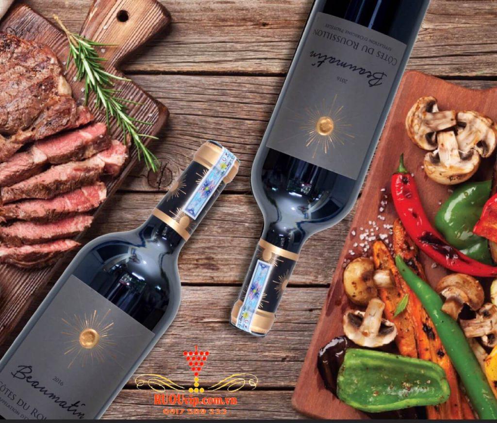 rượu vang Beaumatin Cootes Du Roussillon
