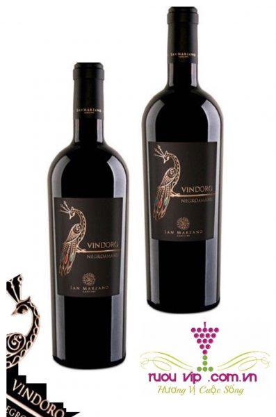 Rượu vang ý Negroamaro Vindoro