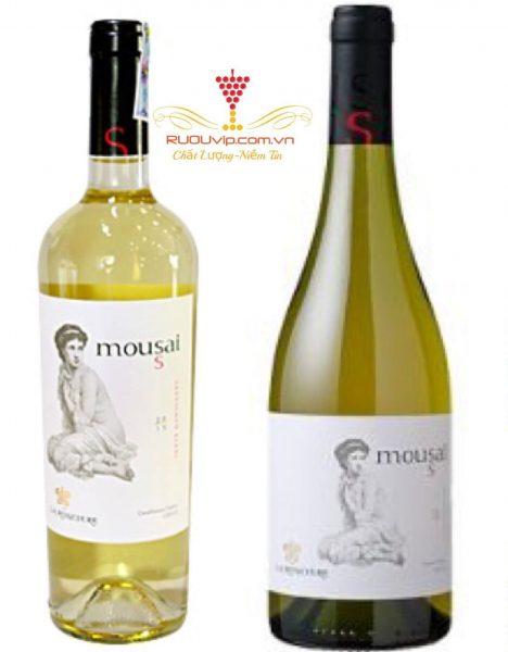 Rượu vang trắng Mousai Chardonnay