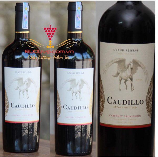 rượu vang CAUDILLO gran reserva Cabernet Sauvignon