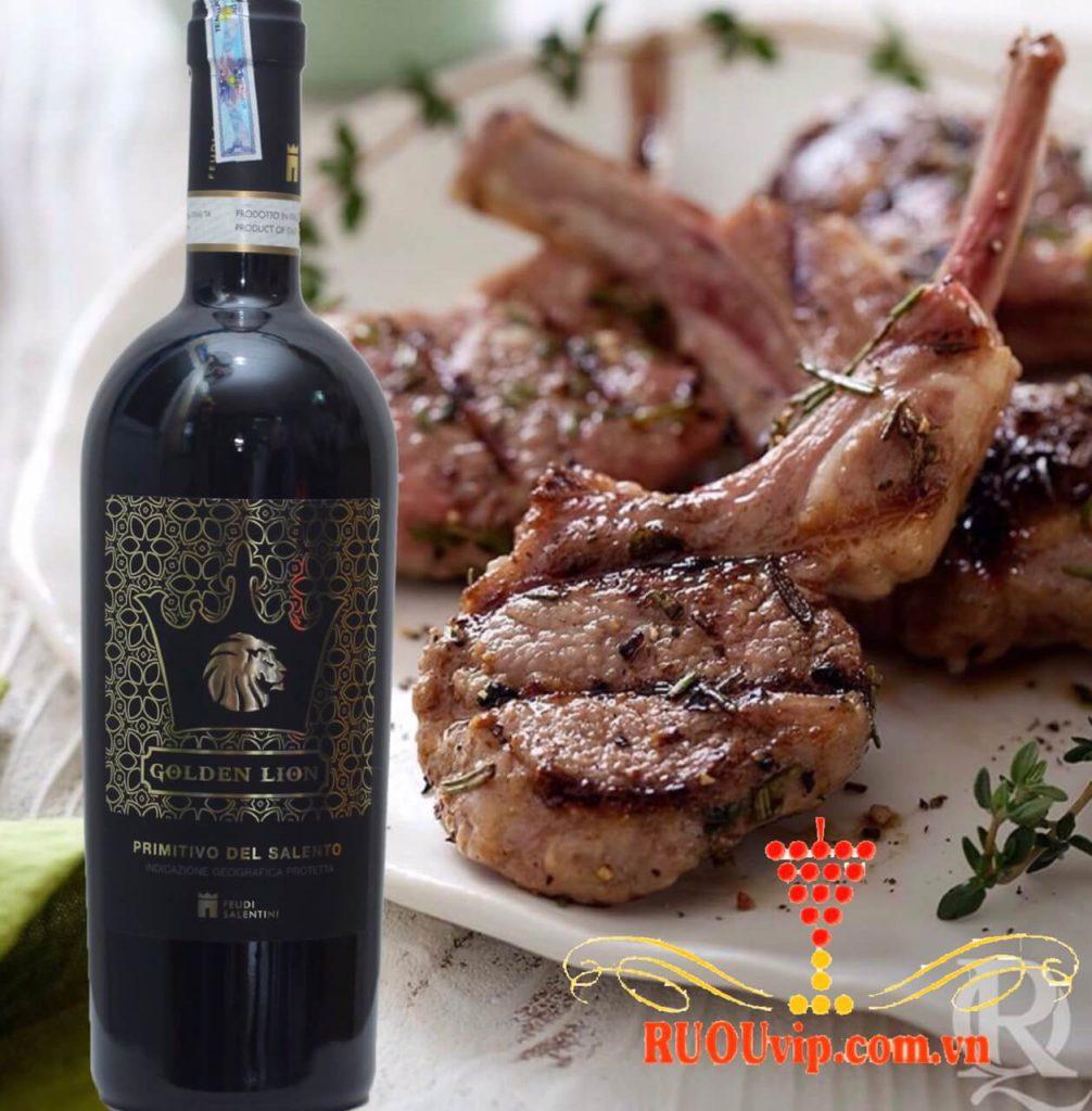 Rượu vang Ý GOLDEN LION PRIMITIVI DEL SALENTO